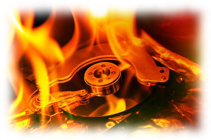 IT Support small business burning-disc