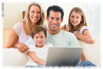 IT support small business happy-family