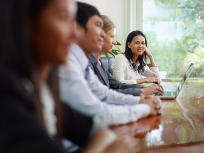 IT Support small business people talking in meeting room